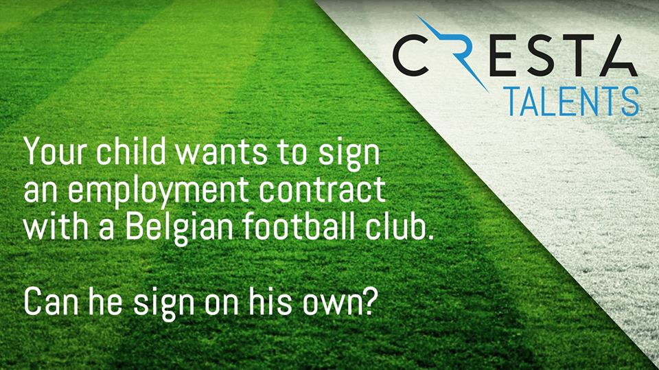 Can your child sign on his own an employment contract with a football club?