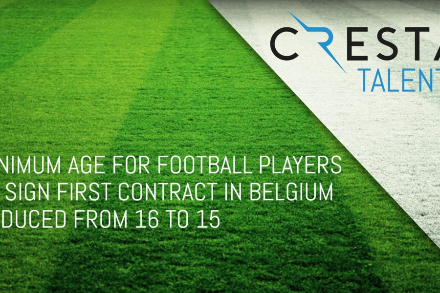 Young football players in Belgium can sign their first professional part-time employment contract at the age of 15