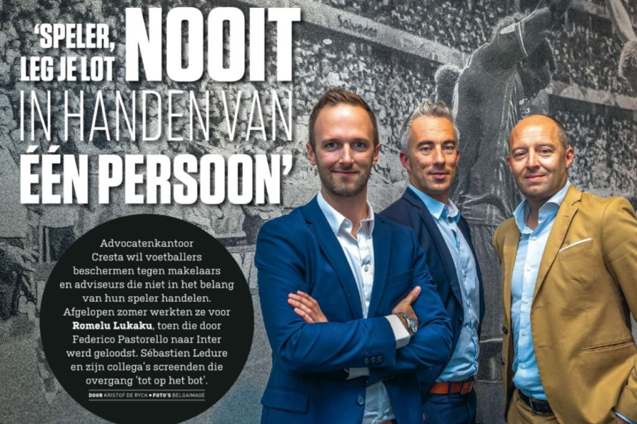 CRESTA's partners interviewed on the new role of sports lawyers in Sport Voetbal Magazine and Sport Foot Magazine
