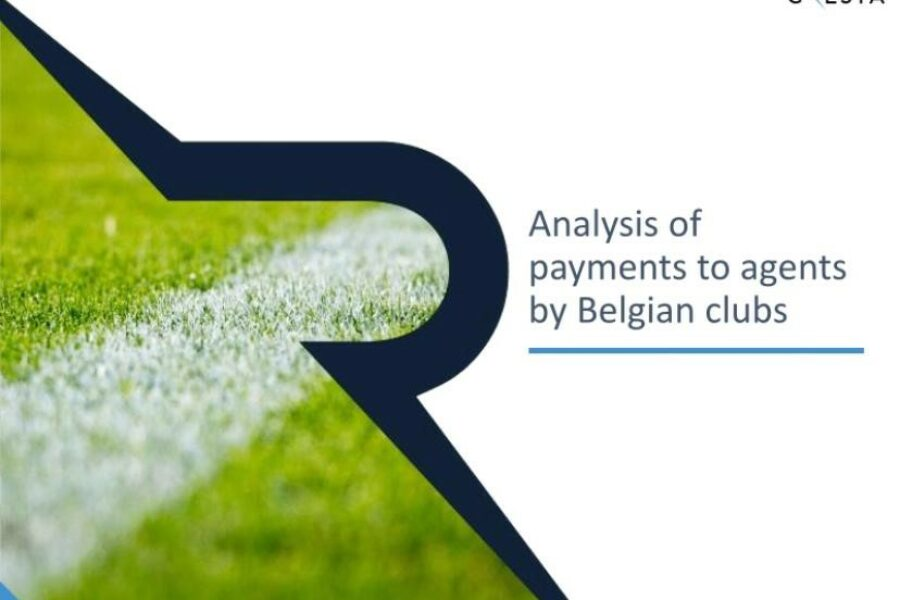 Analysis of payments to agents by Belgian clubs
