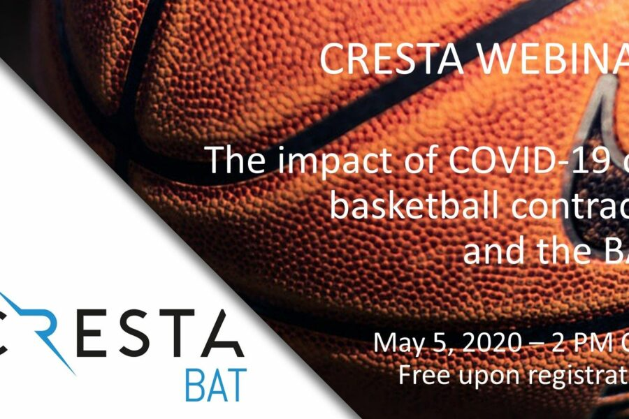 CRESTA webinar on the impact of COVID-19 on basketball contracts and arbitration with the BAT