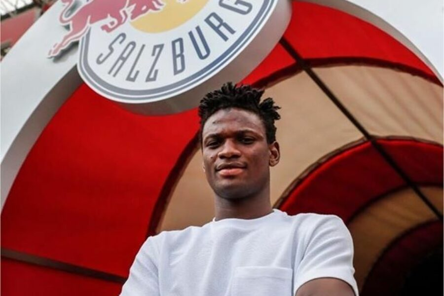 Samson Tijani signing with FC Red Bull Salzburg