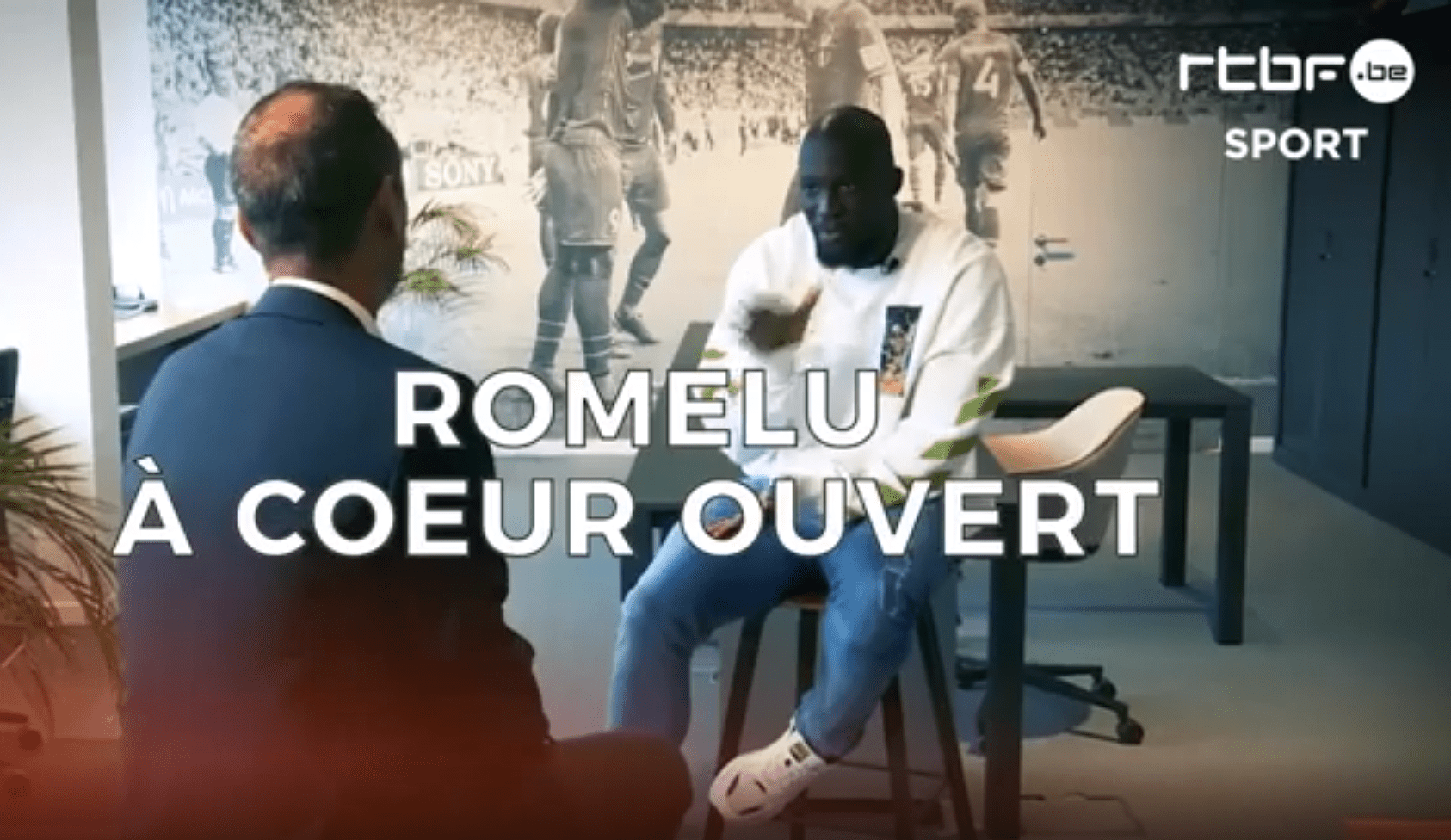 Romelu Lukaku interviewed by RTBF Sport at CRESTA's office