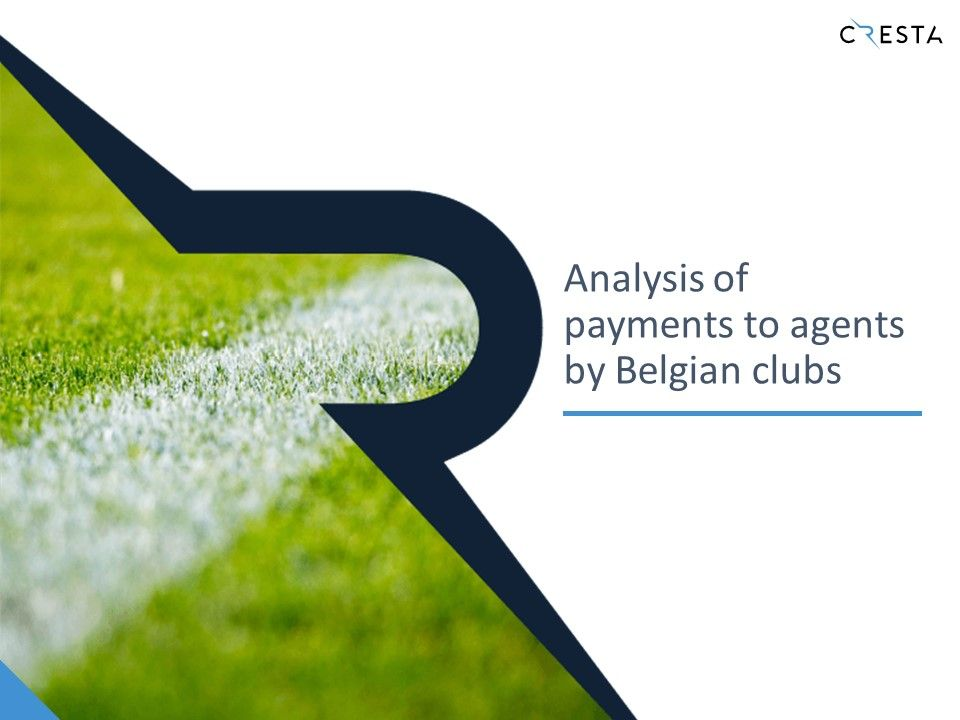 Analysis of payments to agents by Belgian clubs (2015-2021)